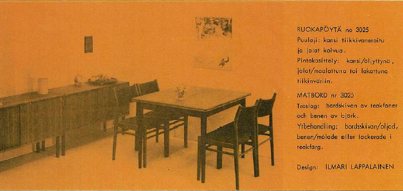 Pöytä nro 3025.