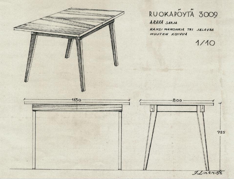 Pöytä Arava.