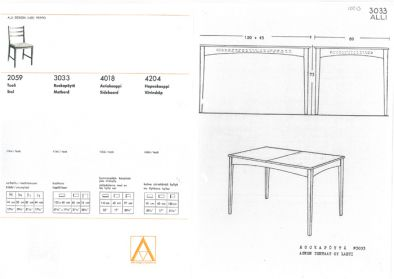 Pöytä Alli.