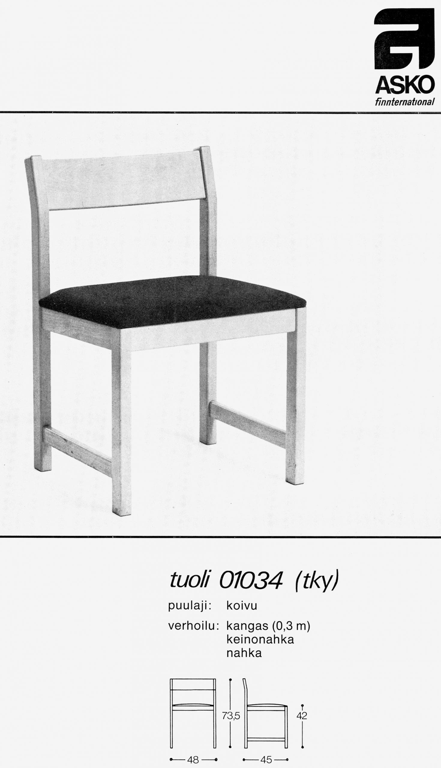 Tuoli nro 01034.