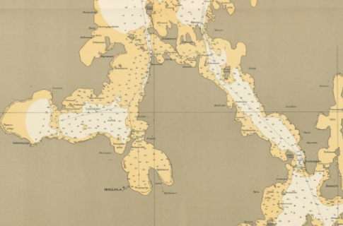 Päijänne-Vesijärvi kartta vuodelta 1926.
